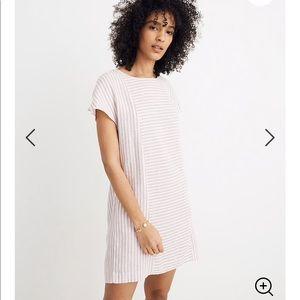 Stripe Play Button Back Dress